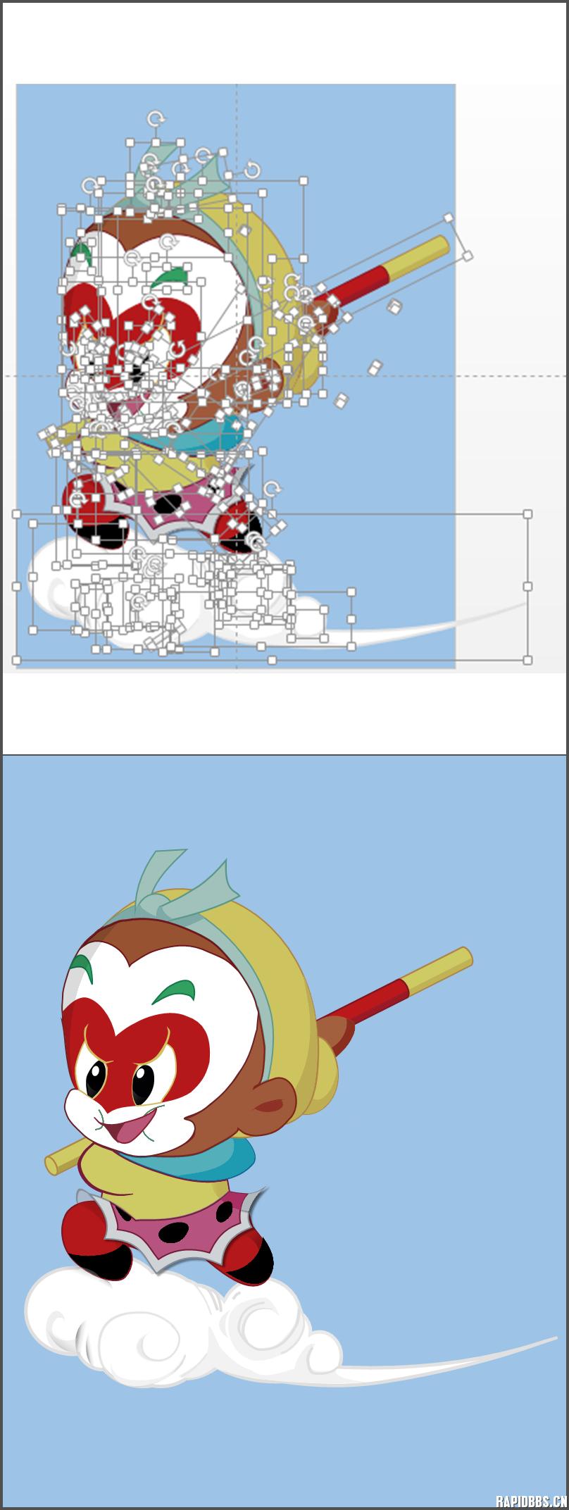 猴年手绘简单图